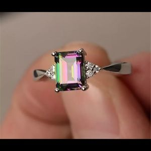 Jewelry - New rainbow mystic sterling silver 925 size 8